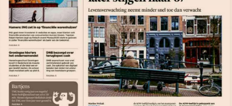 Interview with Bert Bakker in Financiële Dagblad
